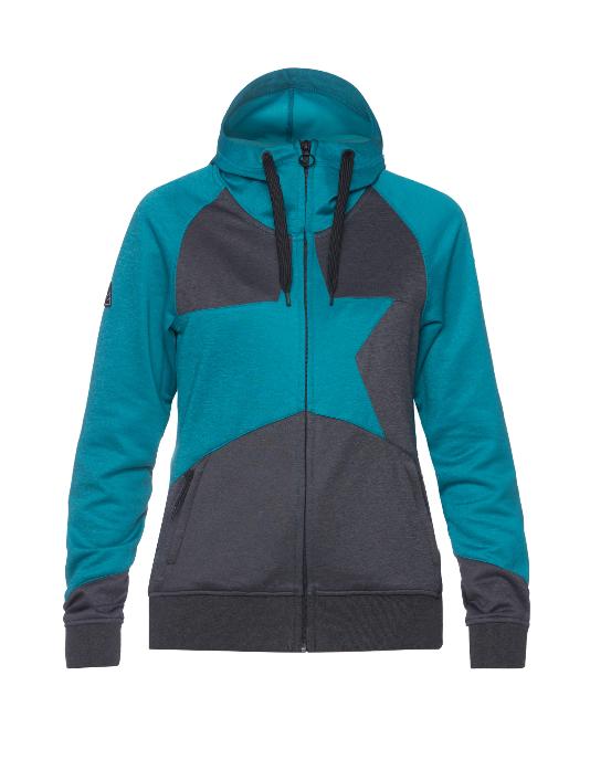 Womens Snow Fleece Jacket Star