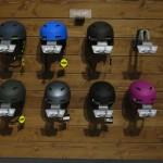 So beliebt, dass ein Helm schon fehlt. Sind etwa Diebe auf der Ispo unterwegs?