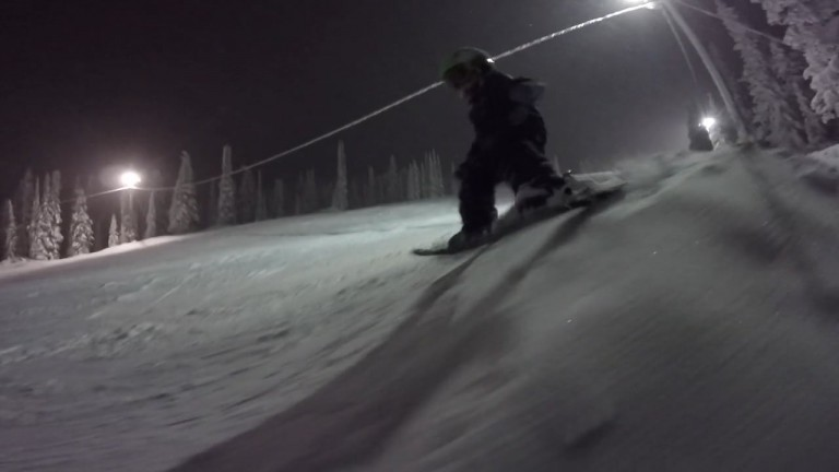 Kasper Treadway – 2 Year-Old Night Skier