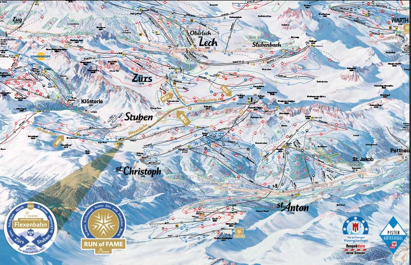Arlberg Panoramakarte 2016
