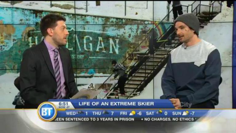 JF Houle erklärt Urban Skiing im Frühstücks-TV