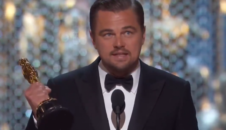 """Leo Dicaprio's Oscar-Rede war on point: """"Climate change is real!"""""""
