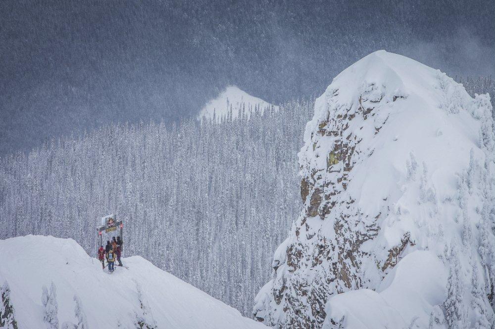 So sah das Start Gate beim Big Mountain Day aus.