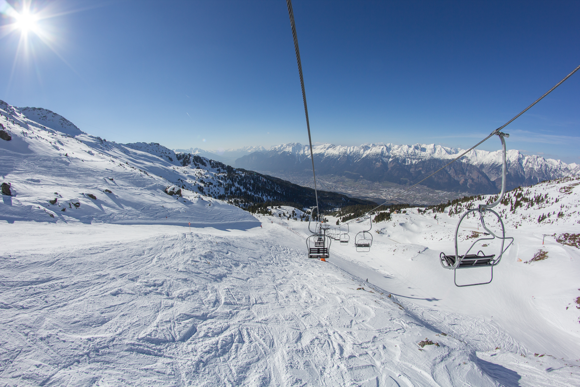 ... und ein Blick ins Tal auf das wunderschöne Innsbruck.