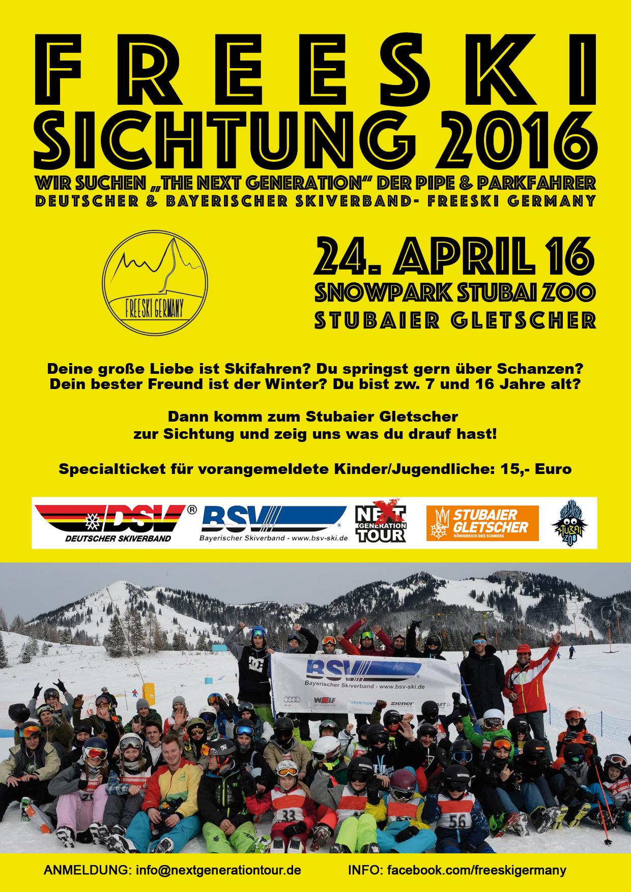 Sichtungstag: Deutsche Freeski Meisterschaft