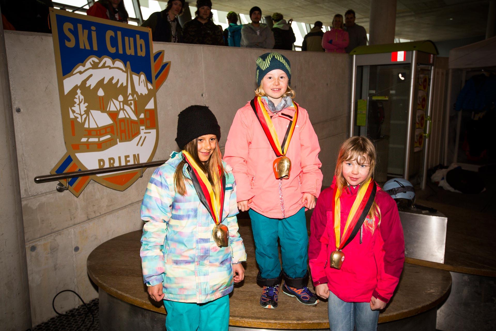 Podium der Girls, Jahrgang 05 - 06: Alma Rothbauer, Muriel Mohr, Mariella Huemke - Foto: Florian Breitenberger