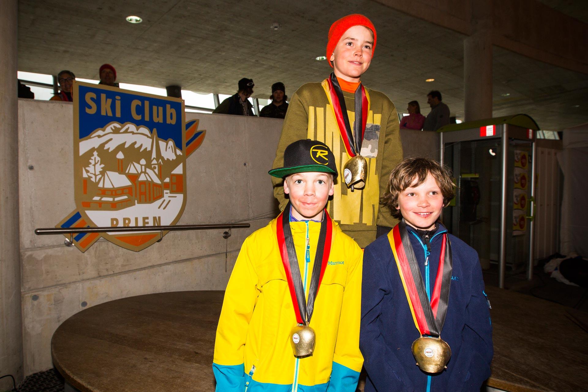 Podium der Boys, Jahrgang 06: Linus Sommer, Hannes Baumhöfer, Jona Reichold - Foto: Florian Breitenberger