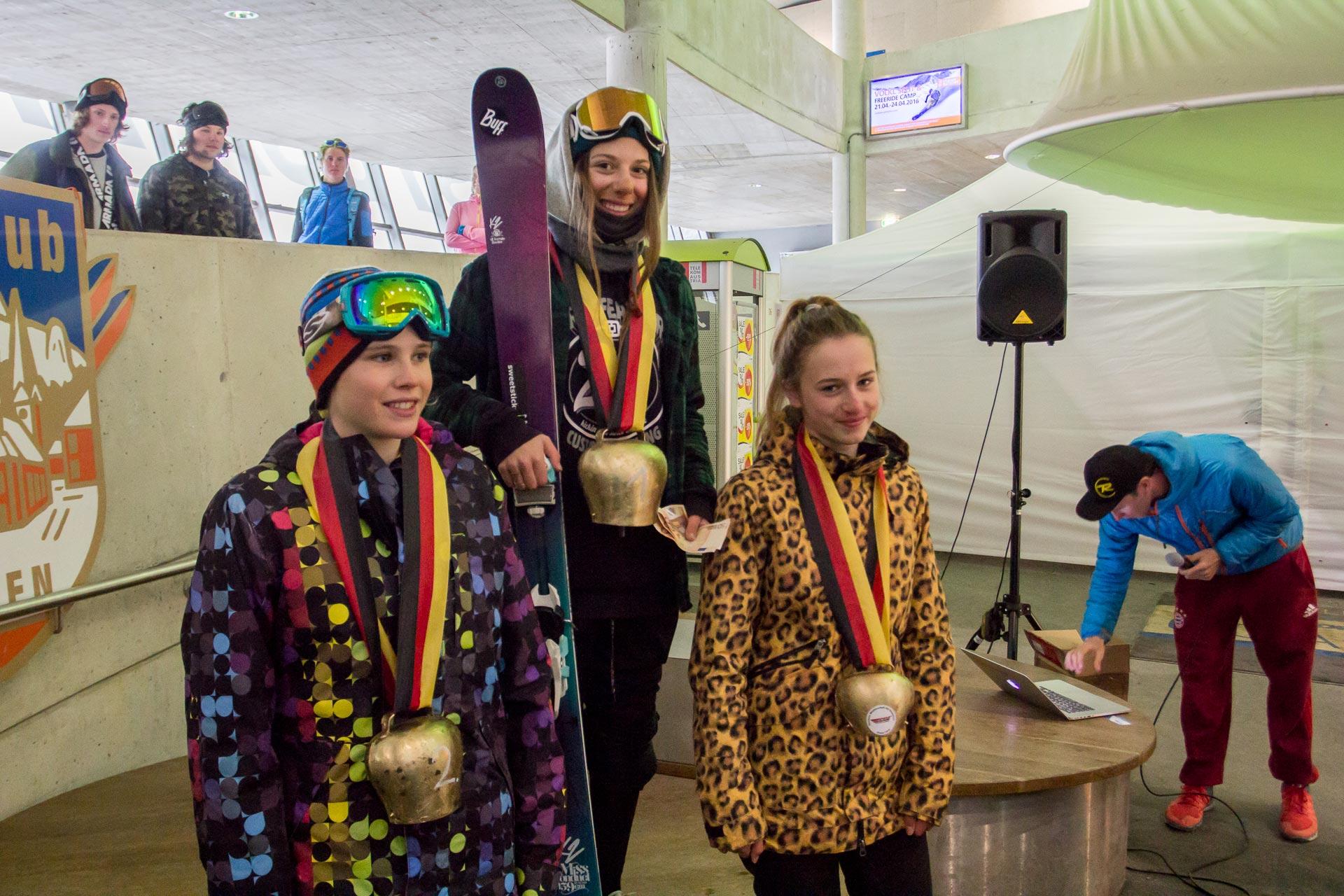 Die Top 3 Ladies: Larissa Ernst, Aliah-Delia Eichinger und Lili Neuhauser