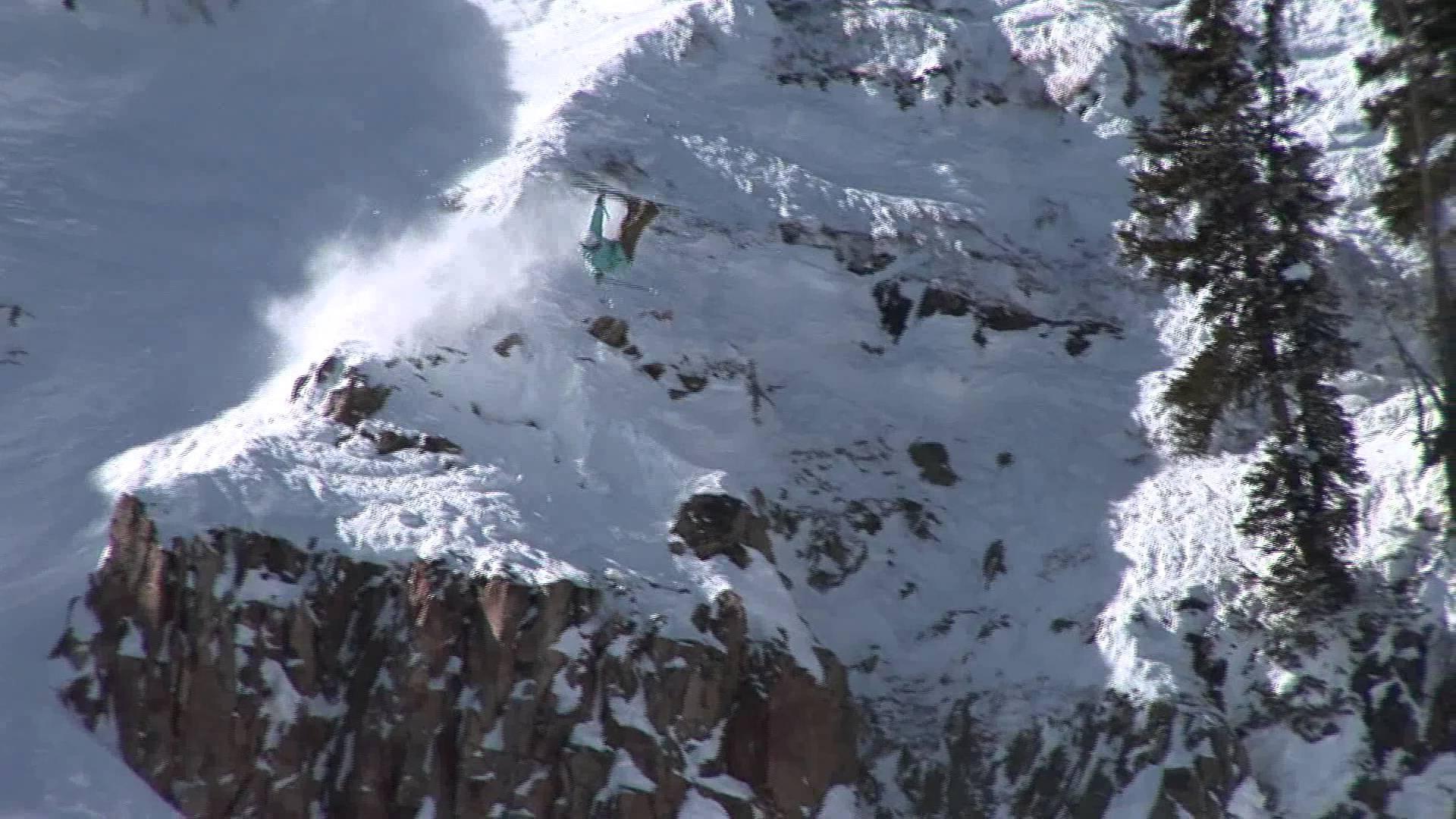 Massive Cliffdrop Crash