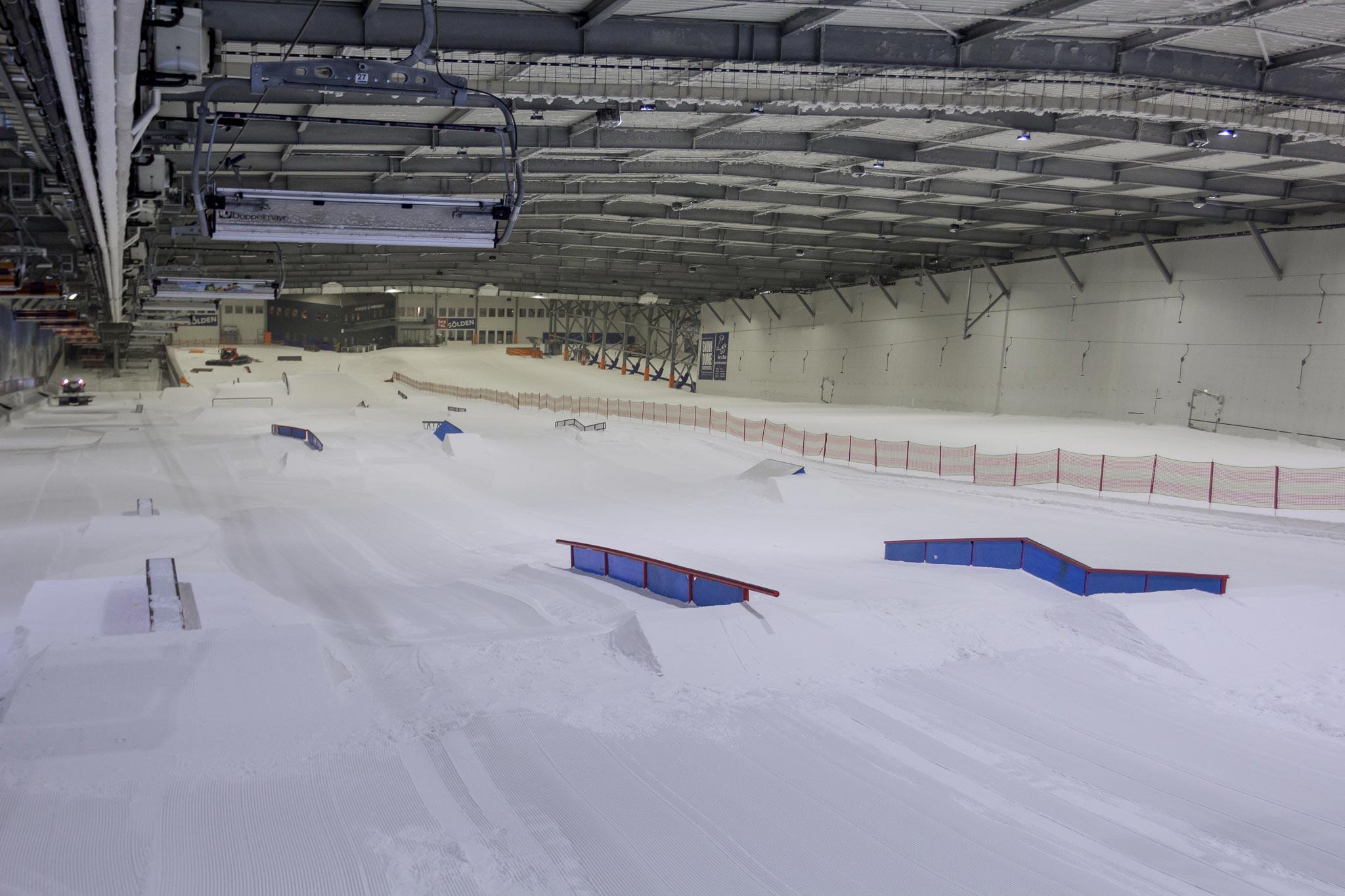 Was für ein Traum für Park-Shredder: Overview des neuen Setups im Snowpark Bispingen