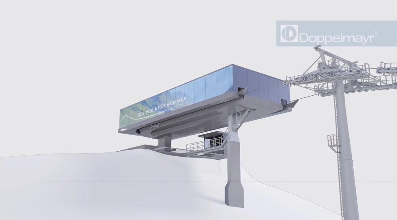 So könnte die neue Bergstation vielleicht schon bald aussehen   © Doppelmayr