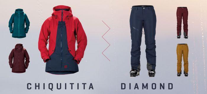Die Chiquitita Jacket und Diamond Pants von Sweet Protection