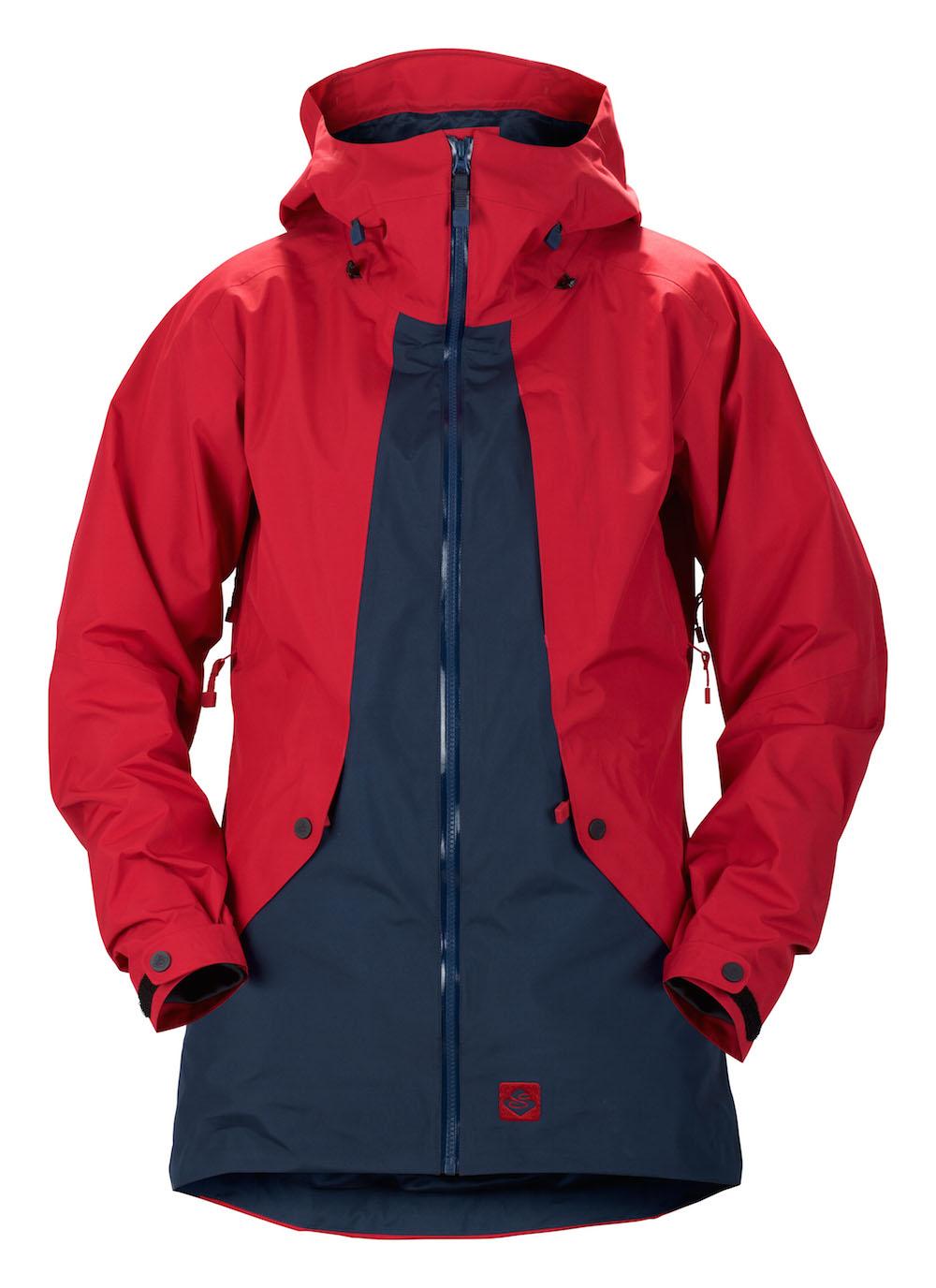 Die Sweet Protection Chiquitita Jacket in den Farben Rubus Redmidnight und blauer Front