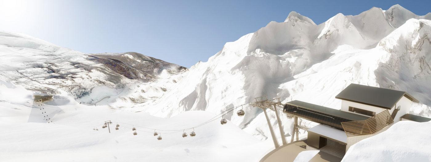 Die Trittkopfbahnen am Arlberg sowie die ebenfalls neue Flexenbahn bilden ab diesem Winter das Drehkreuz des größten österreichischen Skigebiets. Bildnachweis: Ski Arlberg
