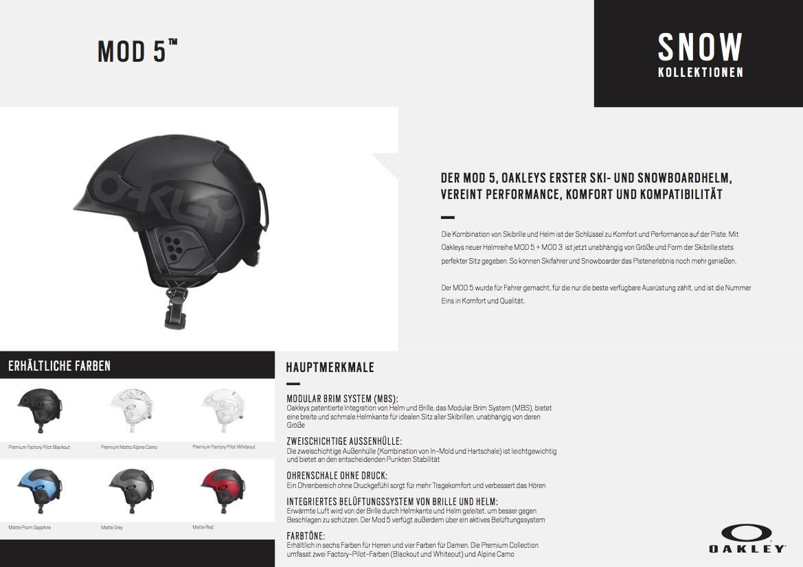 bb394d3835 Oakley präsentiert erstmals eigene Snow-Helme  Mod 3 und Mod 5 ...