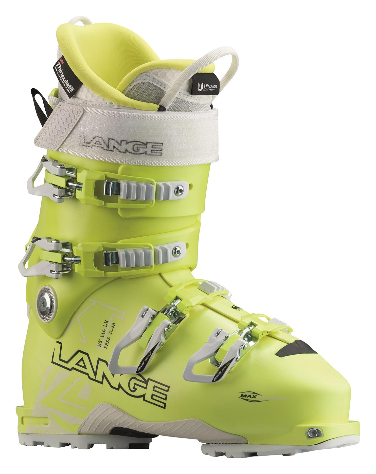 """Nicht nur für Männer: Auch Skifahrerinnen mit Anspruch kommen in den Genuss der neuen Sensation. Der neue Lange XT 110 L.V. FREETOUR W mit einer sportlichen Leistenbreite von 97 Millimeter verfügt über die gleichen Merkmale wie das männliche Pendant, ist jedoch speziell für die weibliche Morphologie gebaut. Darüber hinaus punktet er mit einem sportlich-frischen Design in knalligem Gelb. Das """"Must-Have"""" für alle Skihaserl, die abseits der Piste zu Hause sind, ist für 549,99 Euro (UVP) erhältlich."""