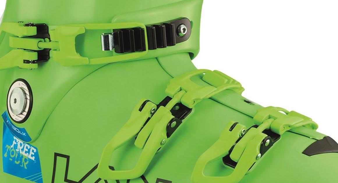 Der Einsatz von hochwertigem Grilamid in der Schale, dank Ultralon ein besonders dünner, thermoverformbarer Innenschuh mit bestechender Isolierung, und die flache Schalenkonstruktion sorgen dafür, dass der Schuh gerade einmal 1.770 Gramm auf die Waage bringt. Eine Bewegungsamplitude von 43 Grad schafft den nötigen Spielraum im Aufstieg.