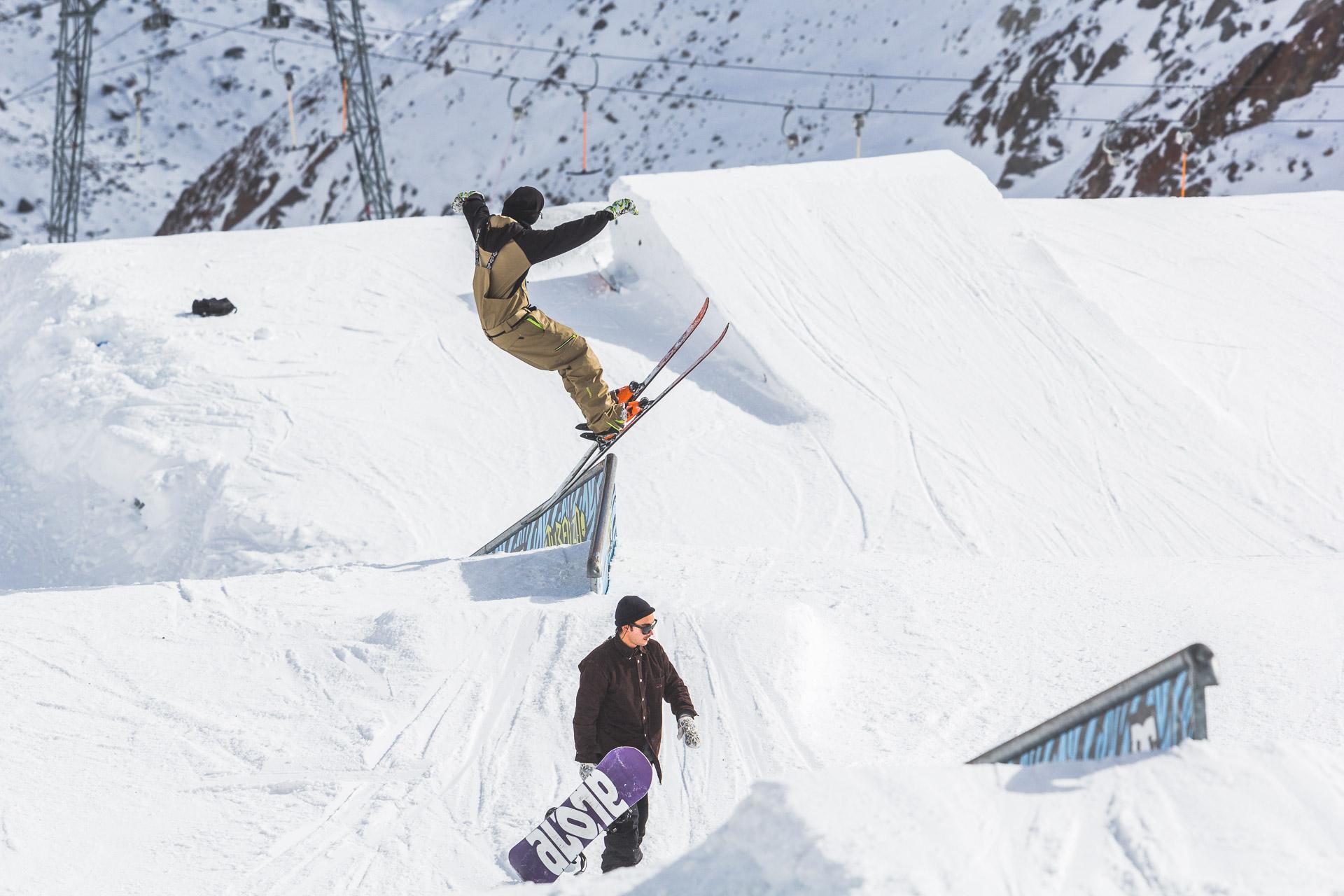 Endlich wieder Frühling - ab in den Snowpark! - Rider: Severin Guggemoos