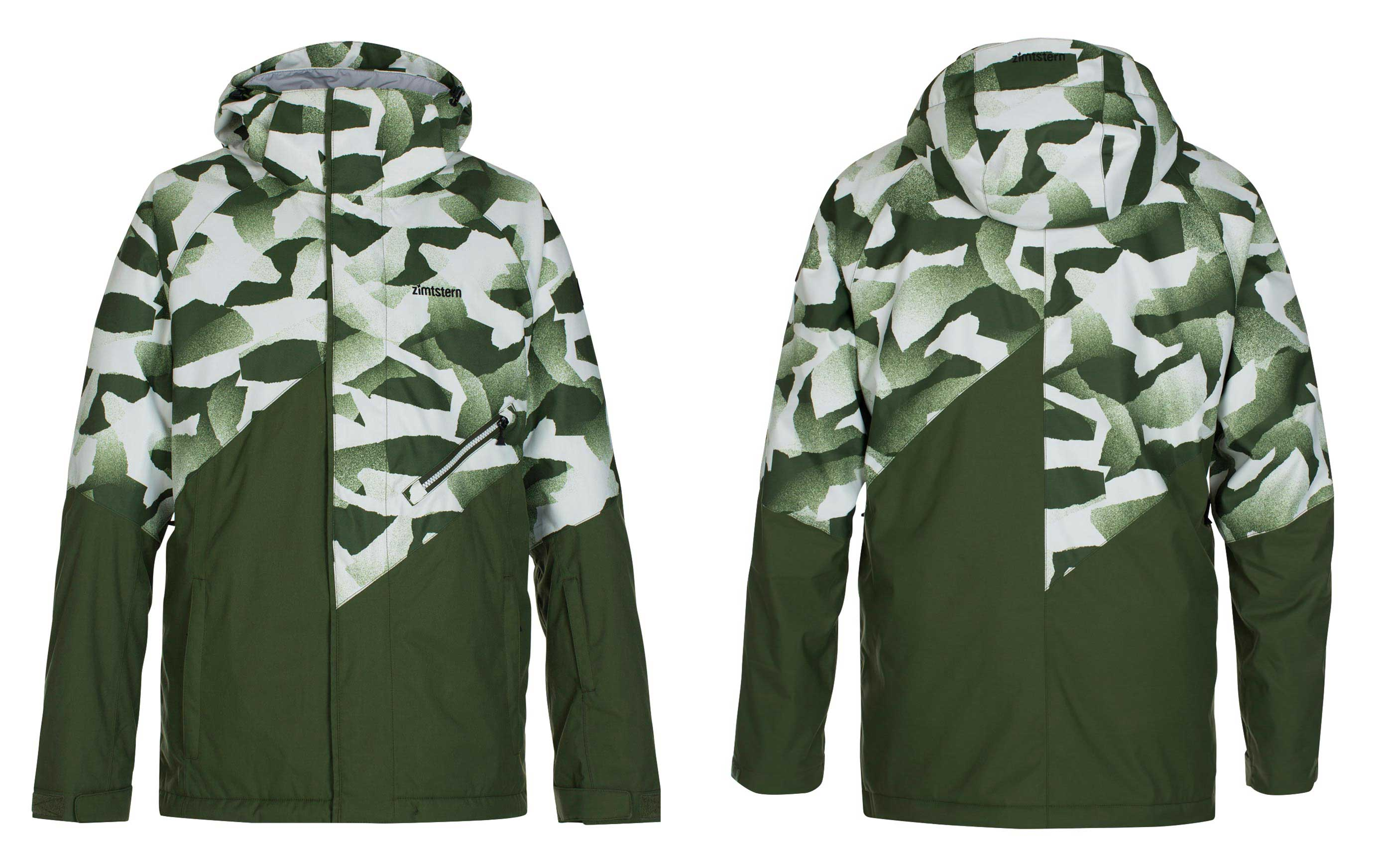 Zimtstern Lokez Snow Jacket für Männer - Farbe: Paperwork AO Olive