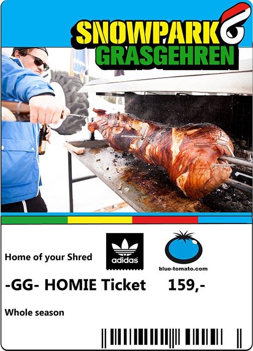 Das Homie Ticket für 159€