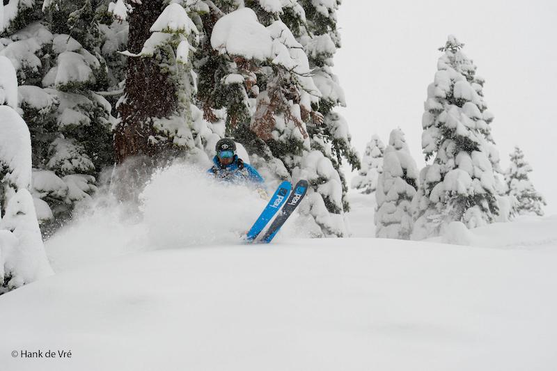 Jonny Moseley skiing for Warren Miller films at Squaw Valley