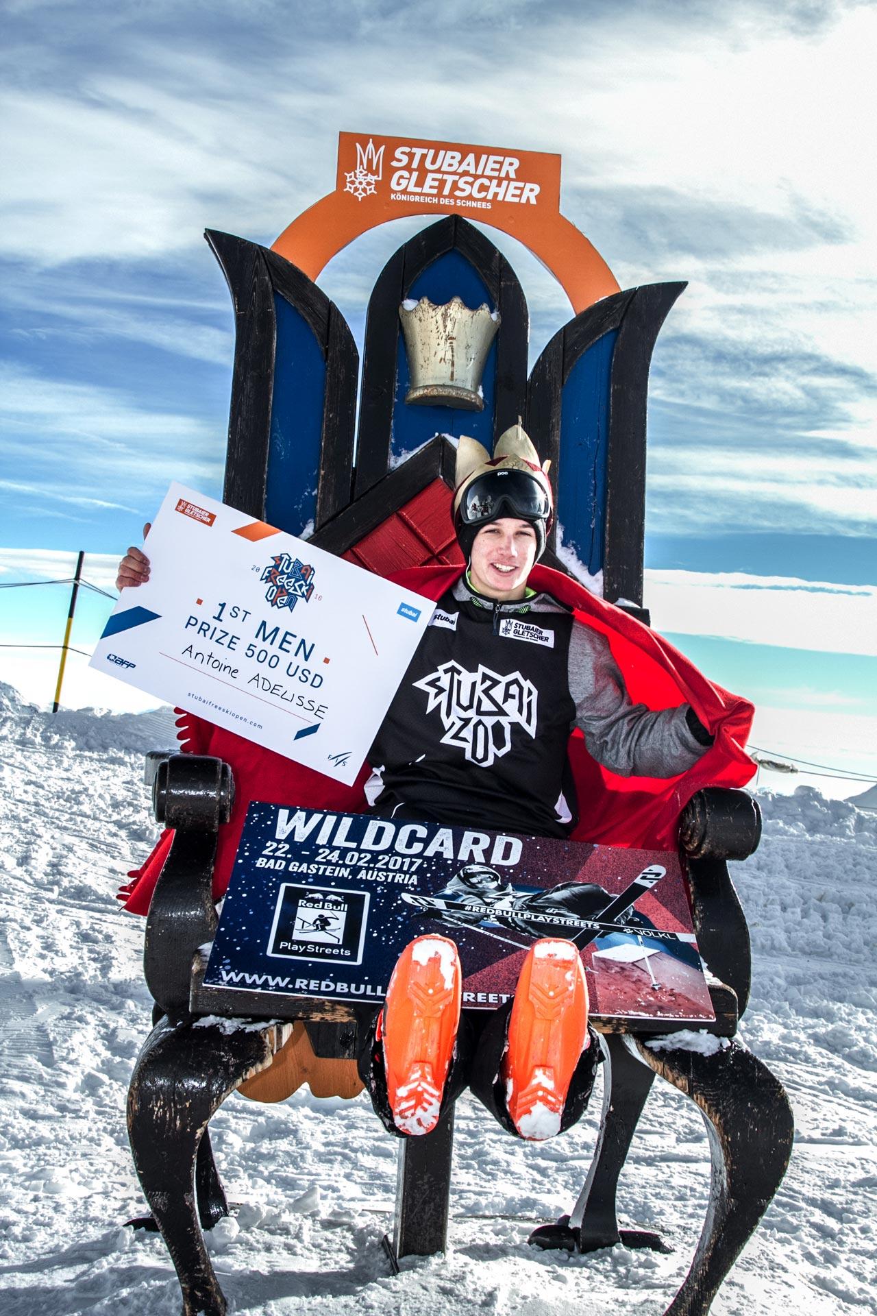Der Gewinner der Stubai Freeski Open bei den Männern: Antoine Adelisse