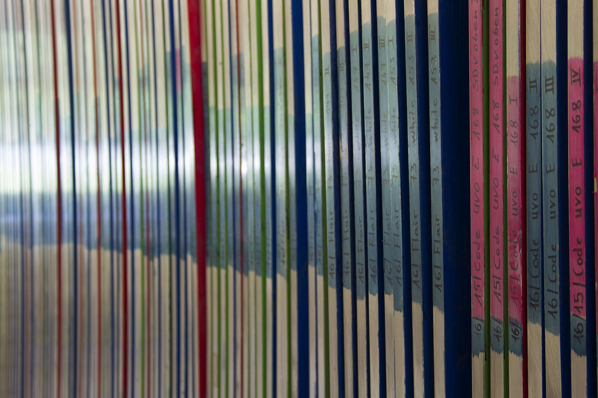 In Reih und Glied - die Druckplatten für das Topsheet der einzelnen Modelle