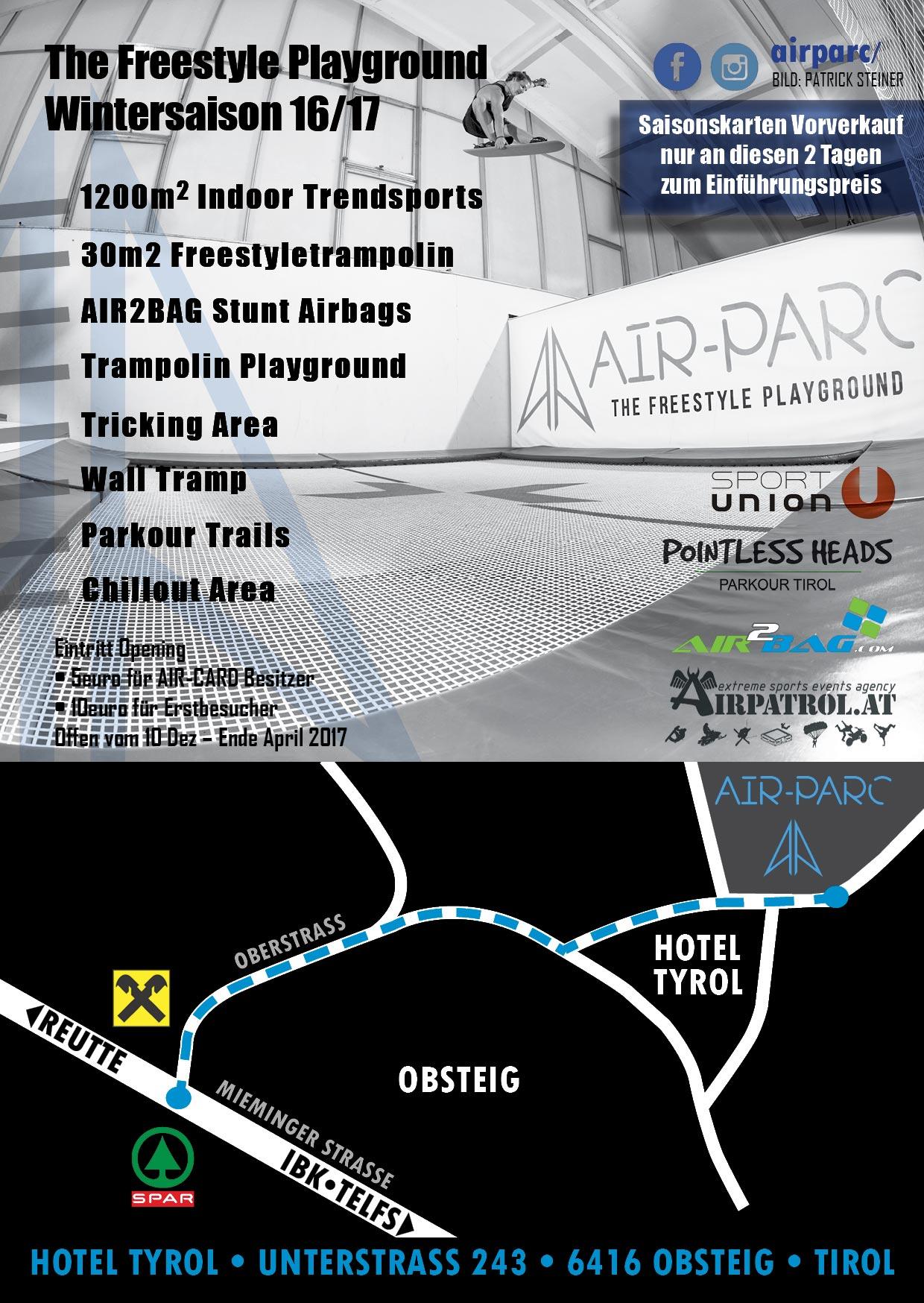Opening der Freestyle-Halle Air-Parc in Obsteig nahe Innsbruck