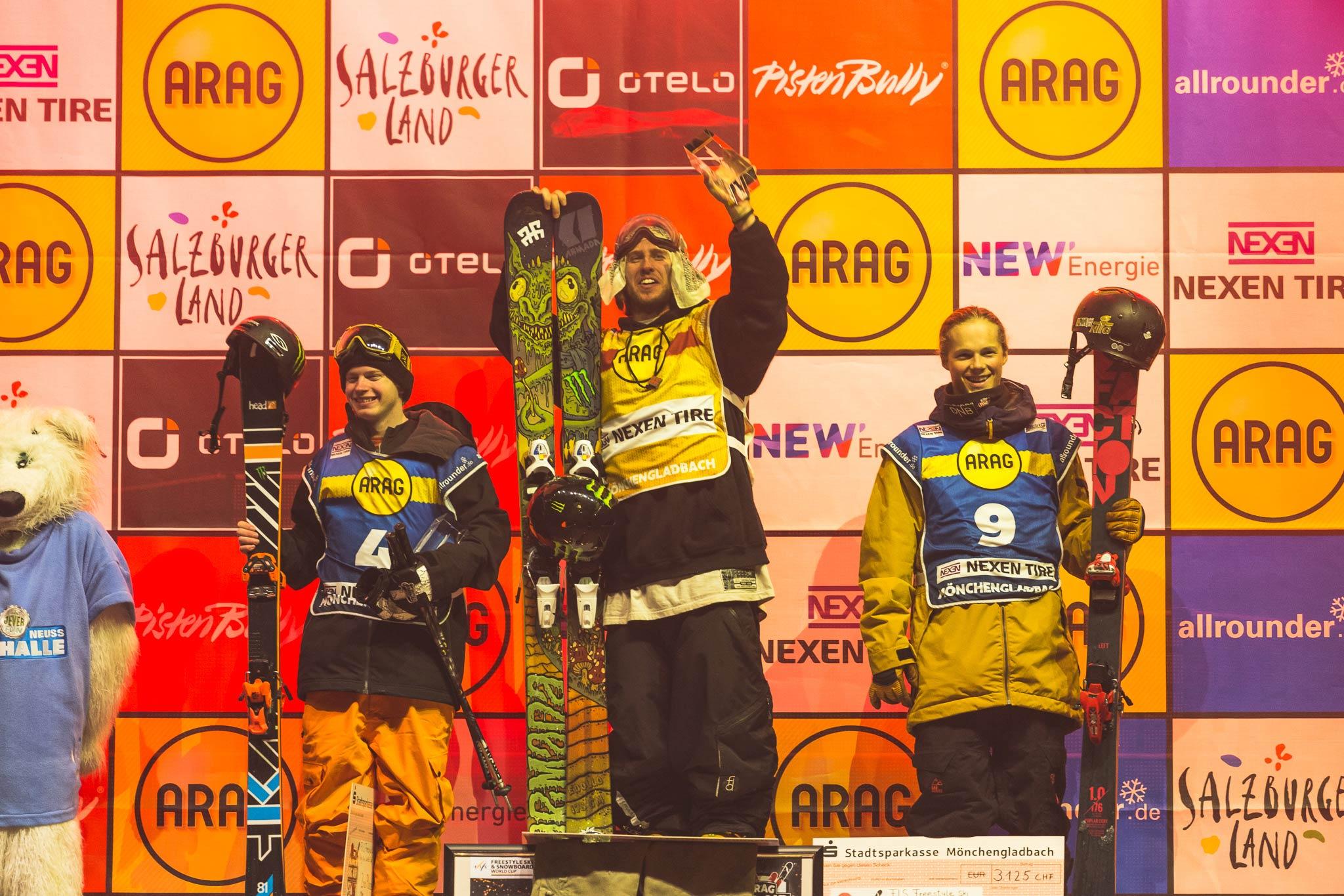 Die Top 3 Männer: Luca Schuler, Henrik Harlaut, Eirik Sateroy (v.l.n.r.)