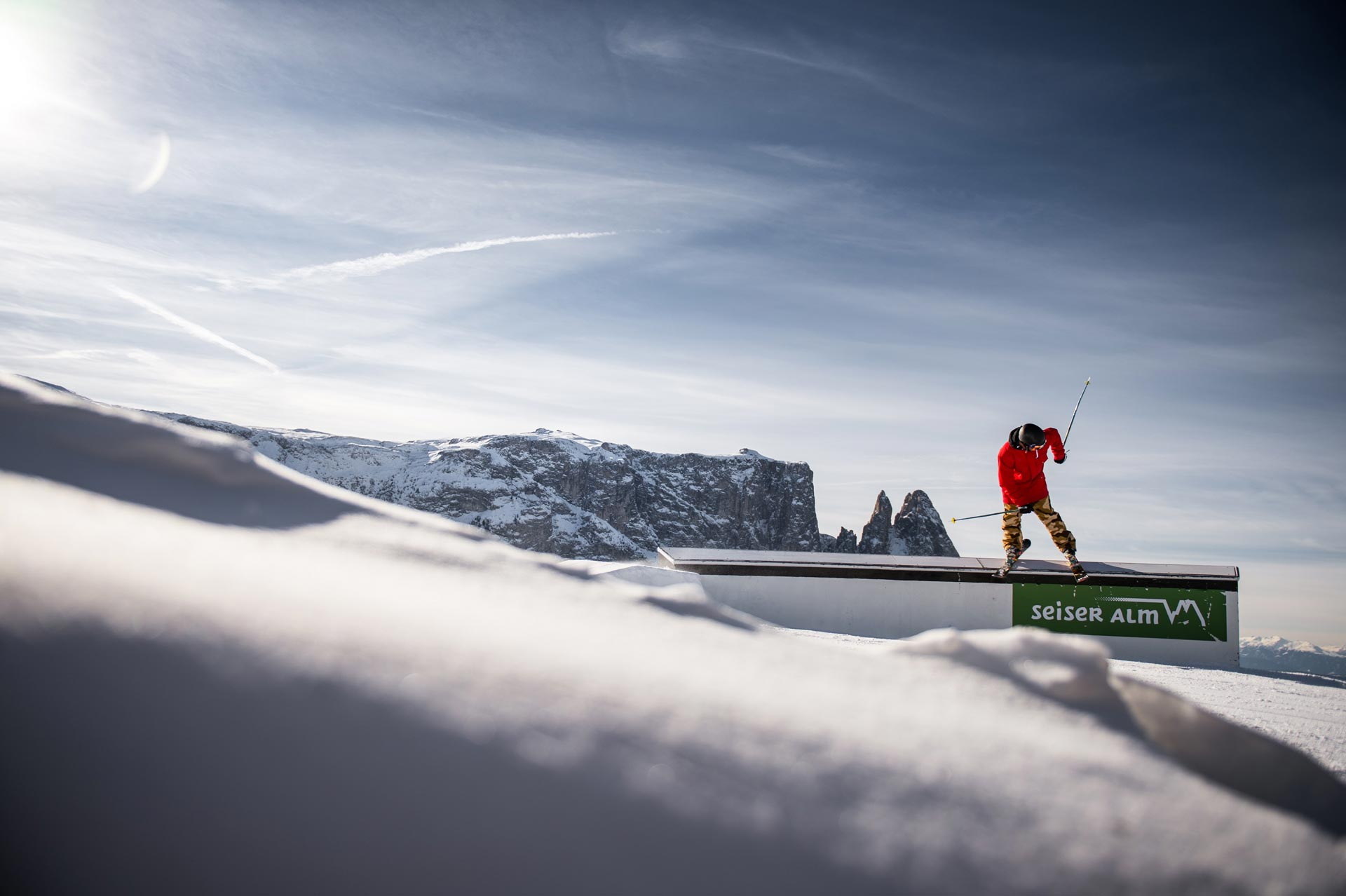 Freestyle Event-Highlights im Snowpark auf der Seiser Alm - Foto: Seiser Alm / F-Tech