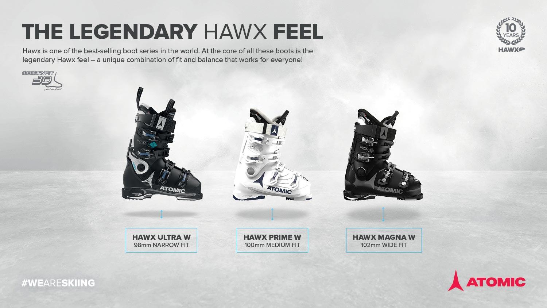 Die neuen Atomic 17/18 Hawx Schuhe für Frauen in der Übersicht