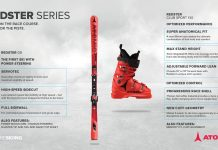 Der neue Atomic Redster G9 sowie der Skischuh