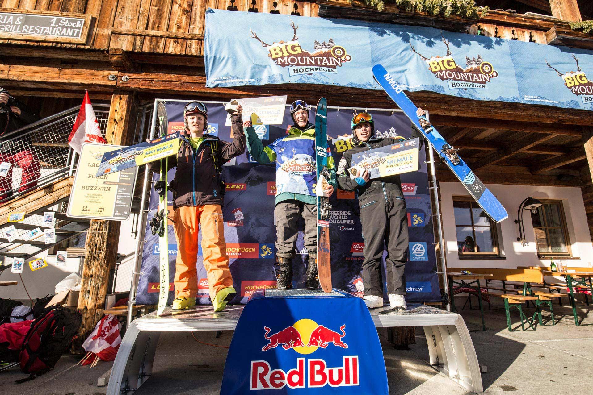 Das Podium der Männer: Mickael Bimboes, Craig Murray und Solan Dejou.