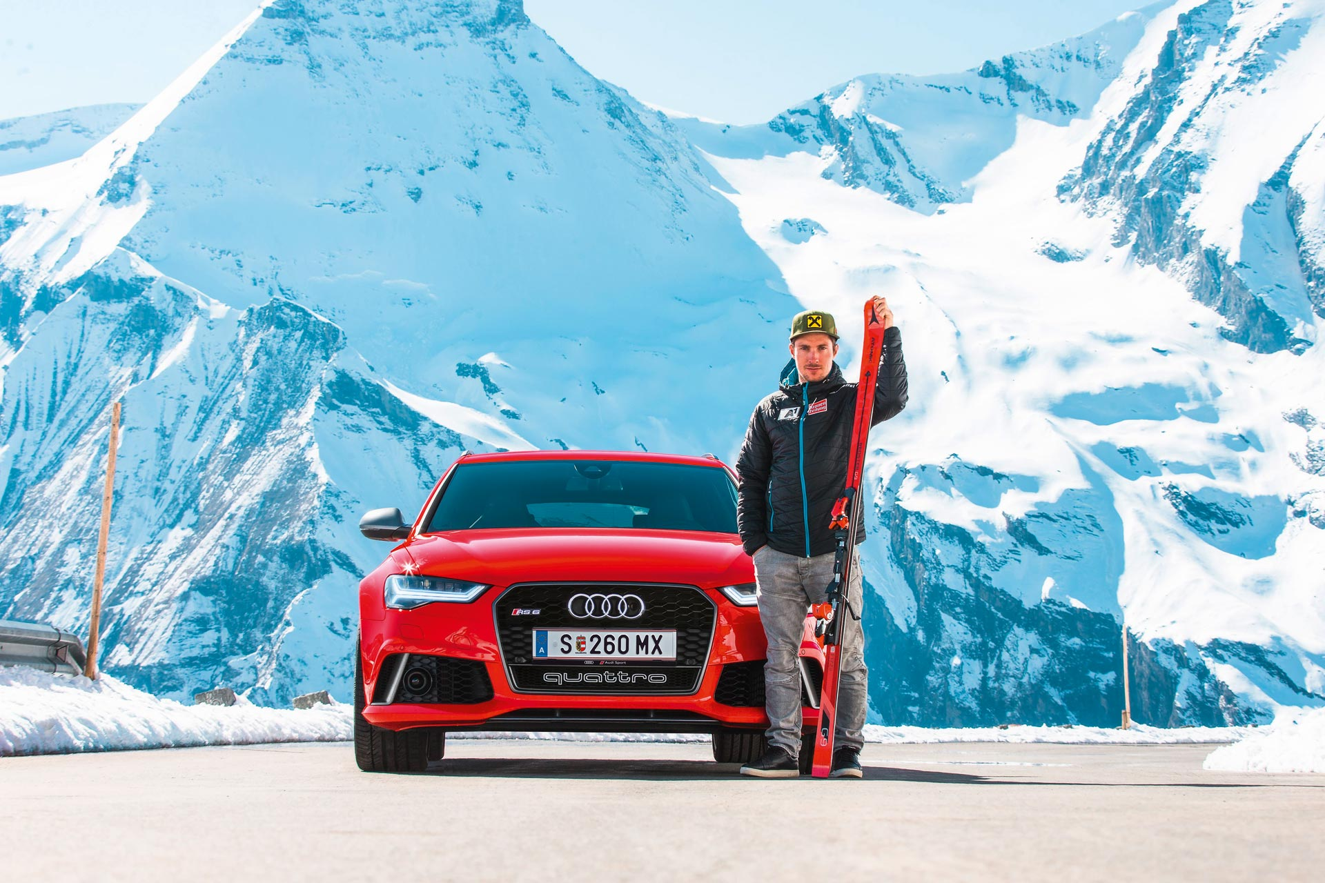Marcel Hirscher mit dem neuen Atomic Redster G9 17/18 Ski