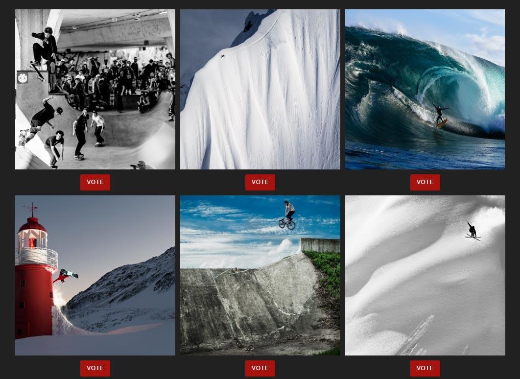 Stimmt jetzt ab, welches dieser 6 Fotos euch am besten gefällt und welcher Fotograf die X Games Zoom Goldmedaille bekommen sollte.