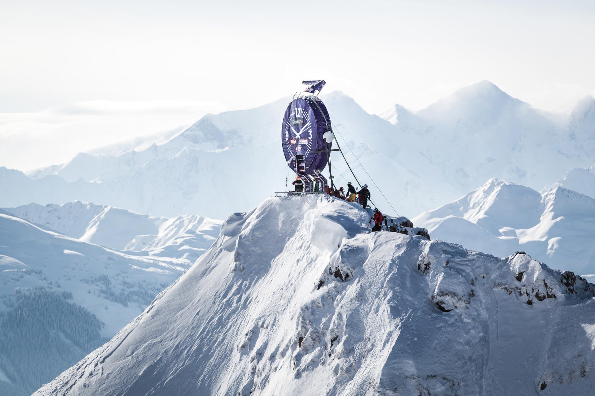 In Fierberbrunn müssen die Rider ein Face mit bis zu 70 Grad Neigung und mit 600 Höhenmetern bezwingen - Foto: M. Knoll / freerideworldtour.com