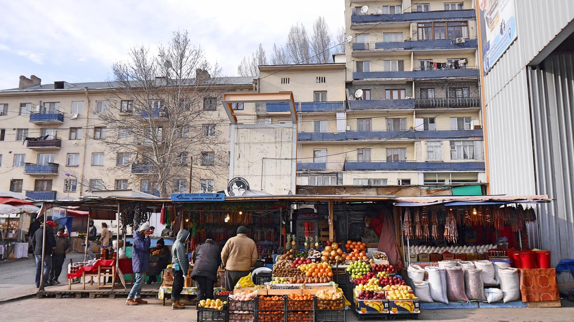 ... auf einem Markt in Tiflis