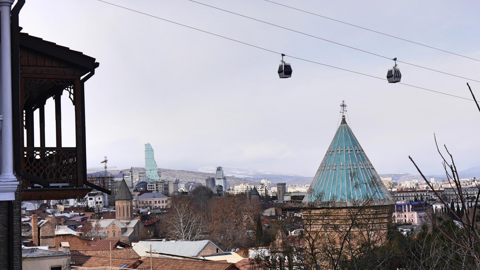 Auch in Georgien gibt es bereits City-Gondeln