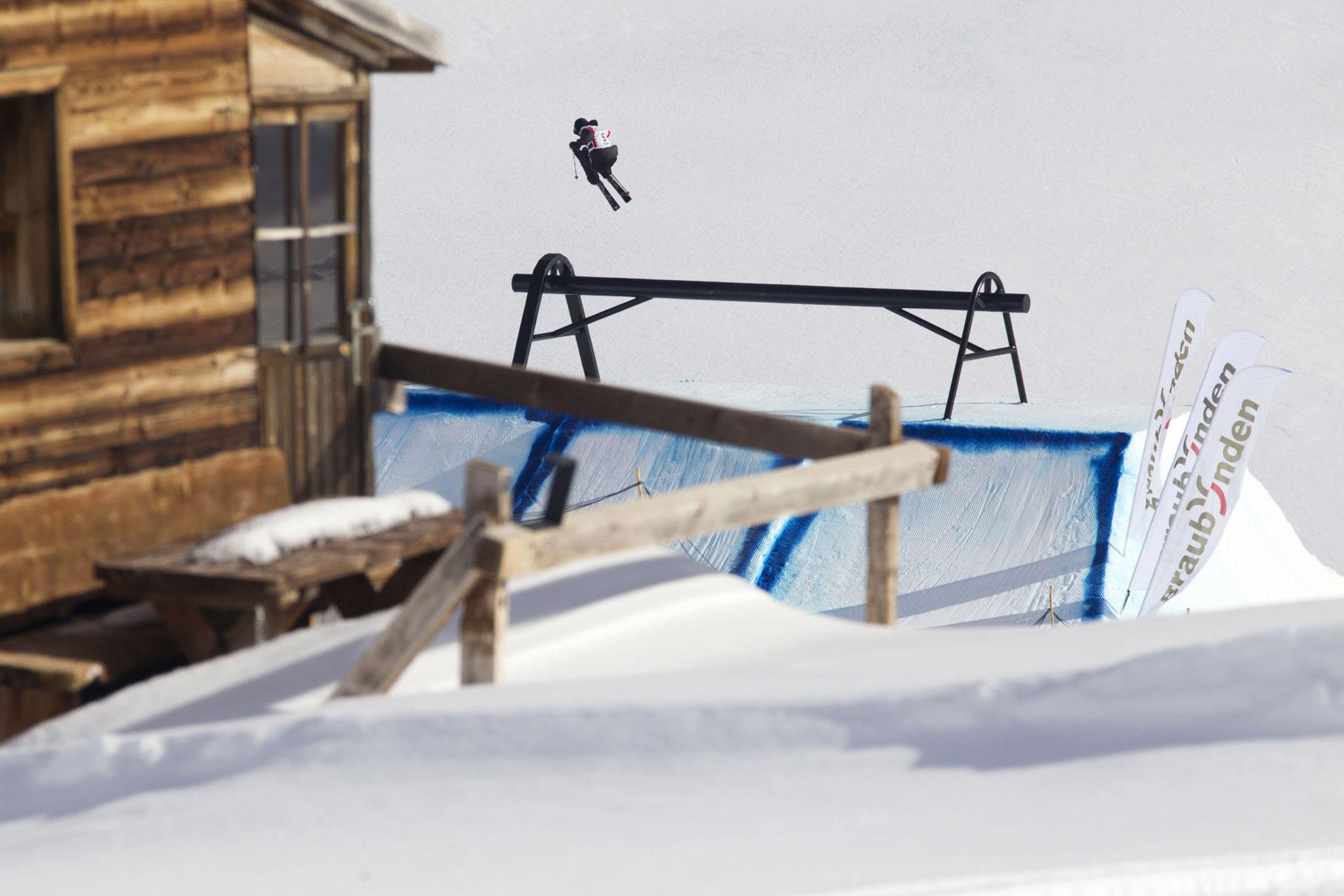 Jossi Wells bei der letztjährigen Ausgabe des Freeski Worldcups am Corvatsch - Bild: Roman Lachner / Prime Skiing