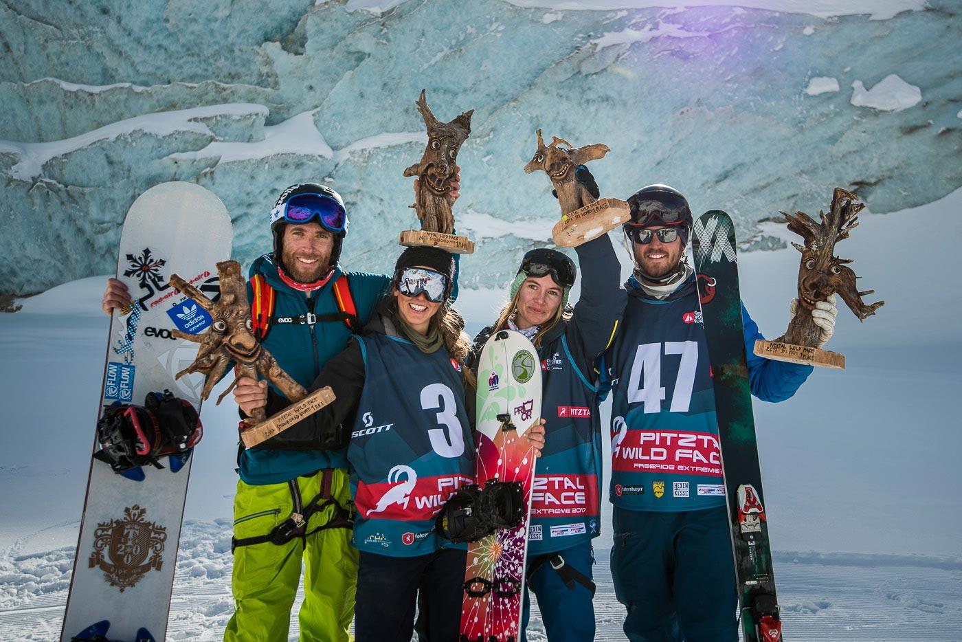 Alle vier glücklichen Gewinner auf einen Blick: Matthias Jorda, Elisabeth Dünser, Elena Mitgrenova und Tobias Heinle