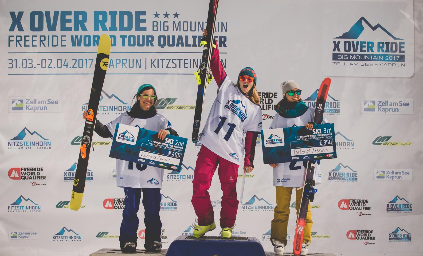 Die drei besten Ladies beim X Over Ride 2017 am Kizsteinhorn: Claudia Klobasa, Stefanie Noppinger und Betend Megane - Foto: Mia Knoll
