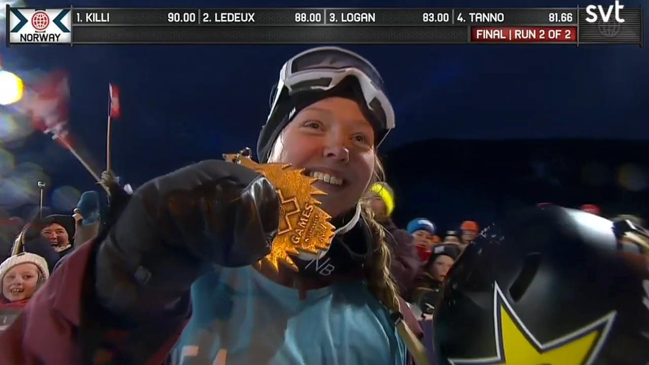 Die Slopestyle Siegerin bei den X Games 2017 in Norwegen: Johanne Kili