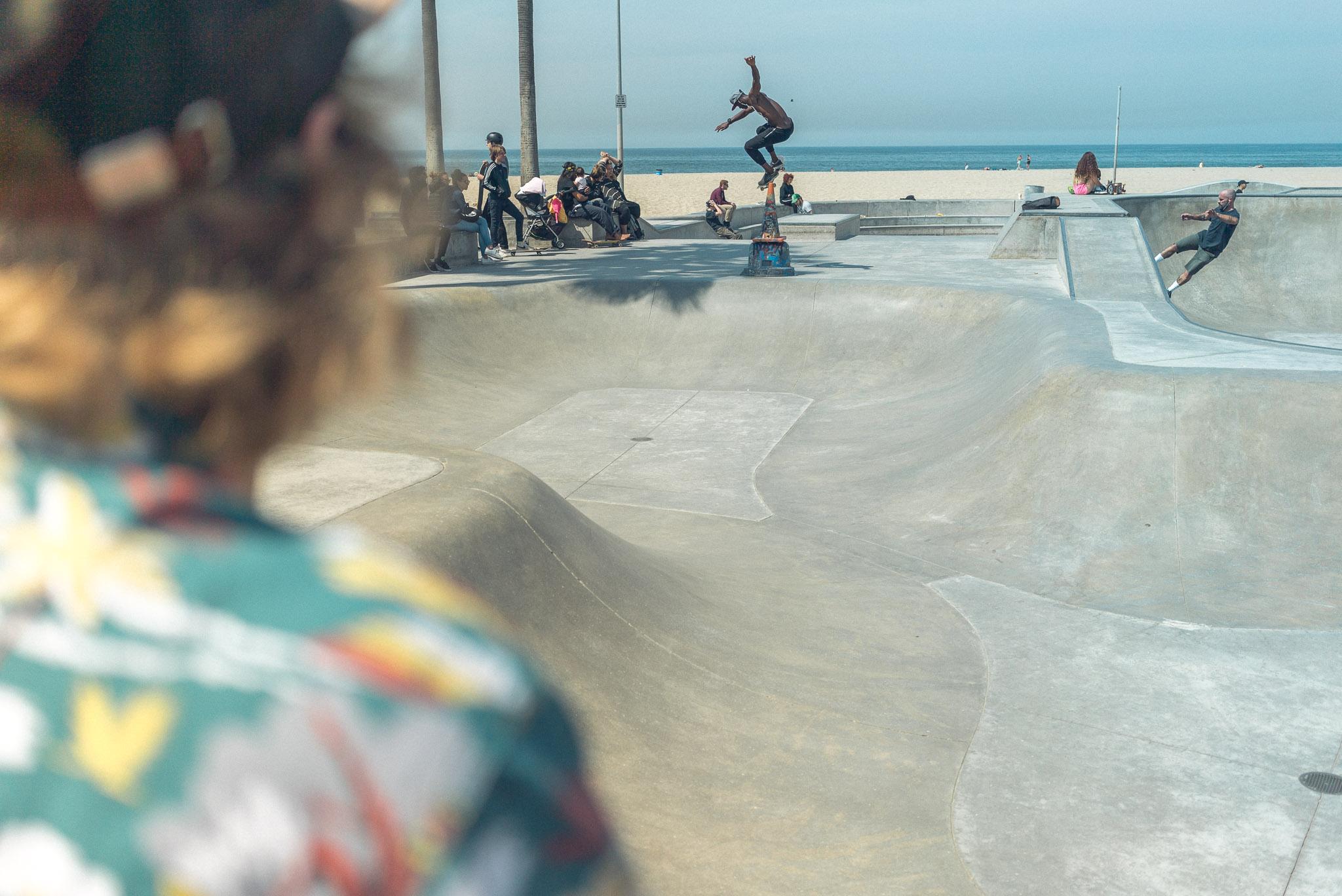 Am Venice Beacht steht einer der wahrscheinlich bekanntesten Skateparks der Welt.