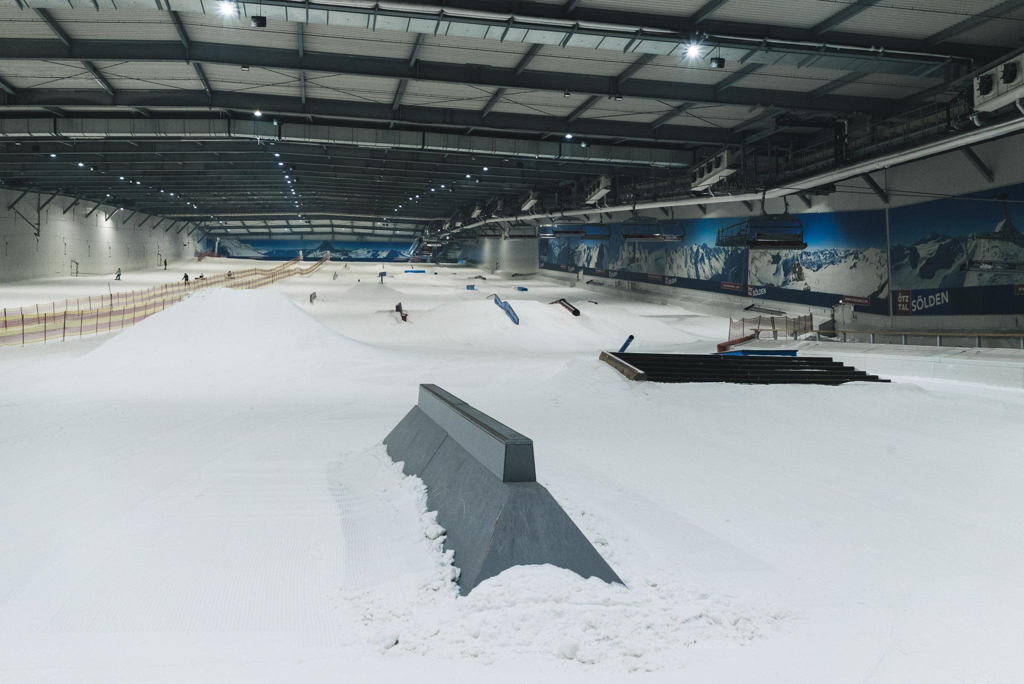 Die ersten Features aus dem Snowpark Nesselwang stehen bereits.