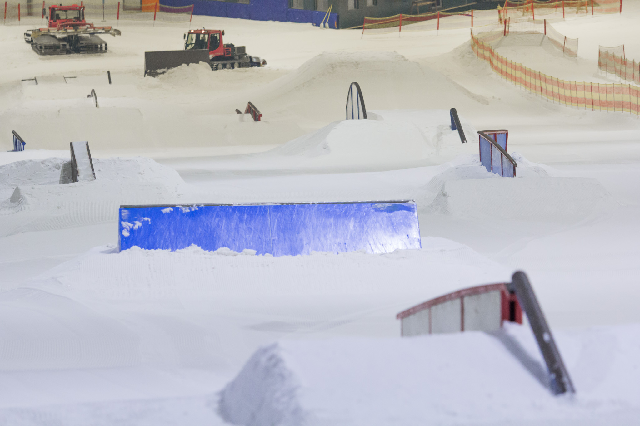 Der weltweit größte Indoor Snowpark steht in Deutschland im Snow Dome Bispingen