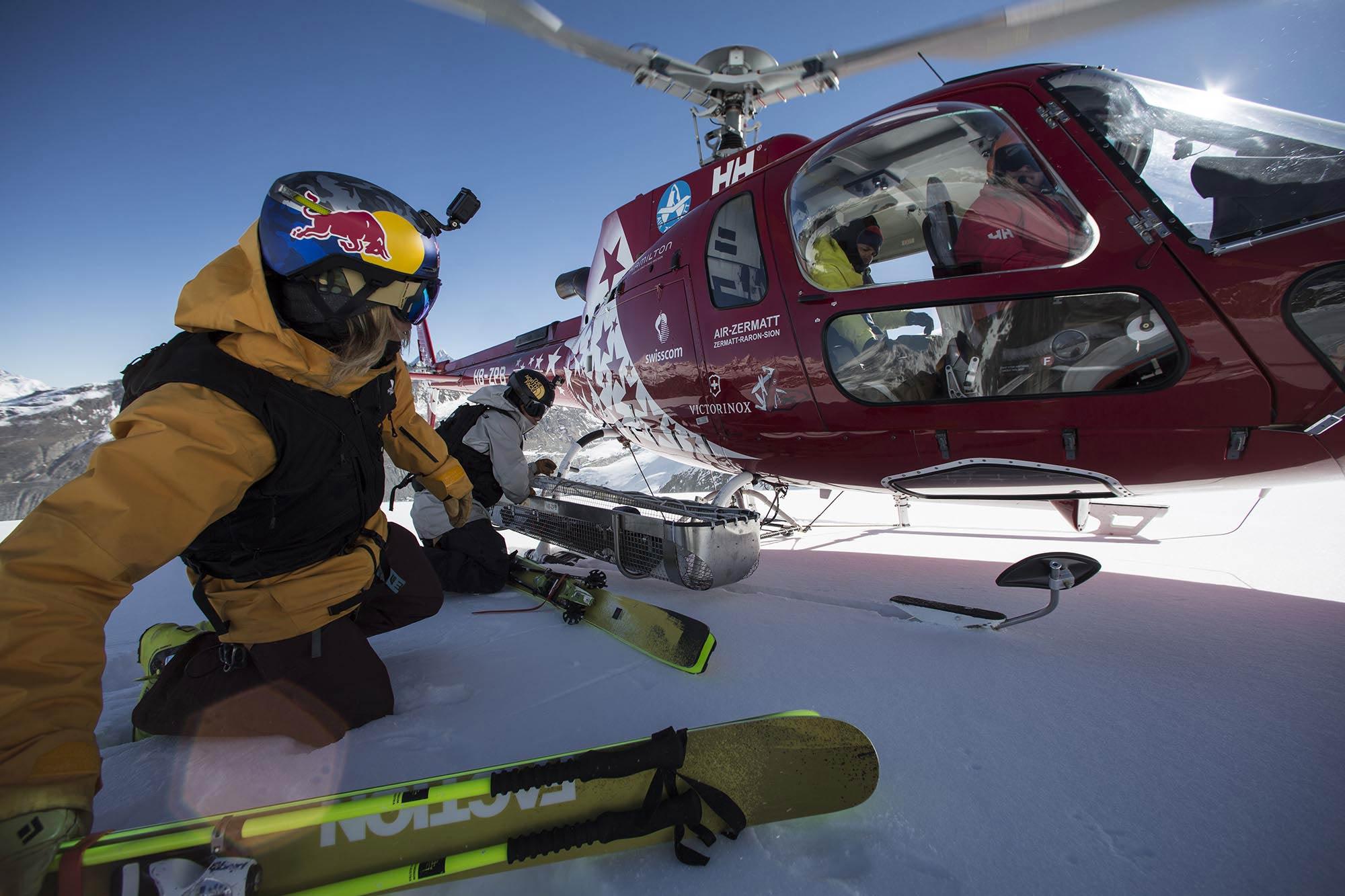 Johnny Collinson macht sich bereit für den Flug zum Gipfel