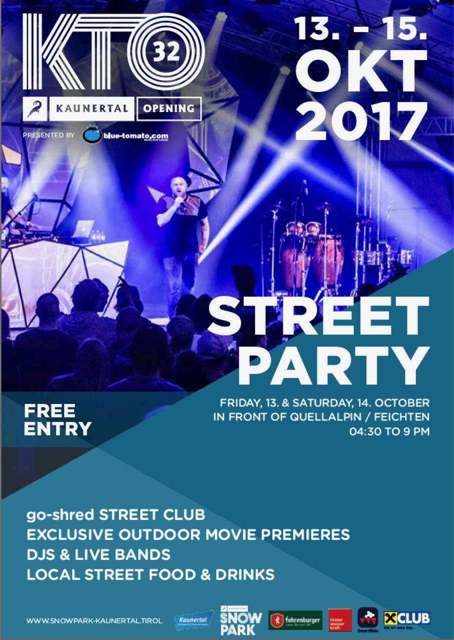 Beim Kaunertal Opening 2017 wird die Straße in Feichten zur Partymeile!