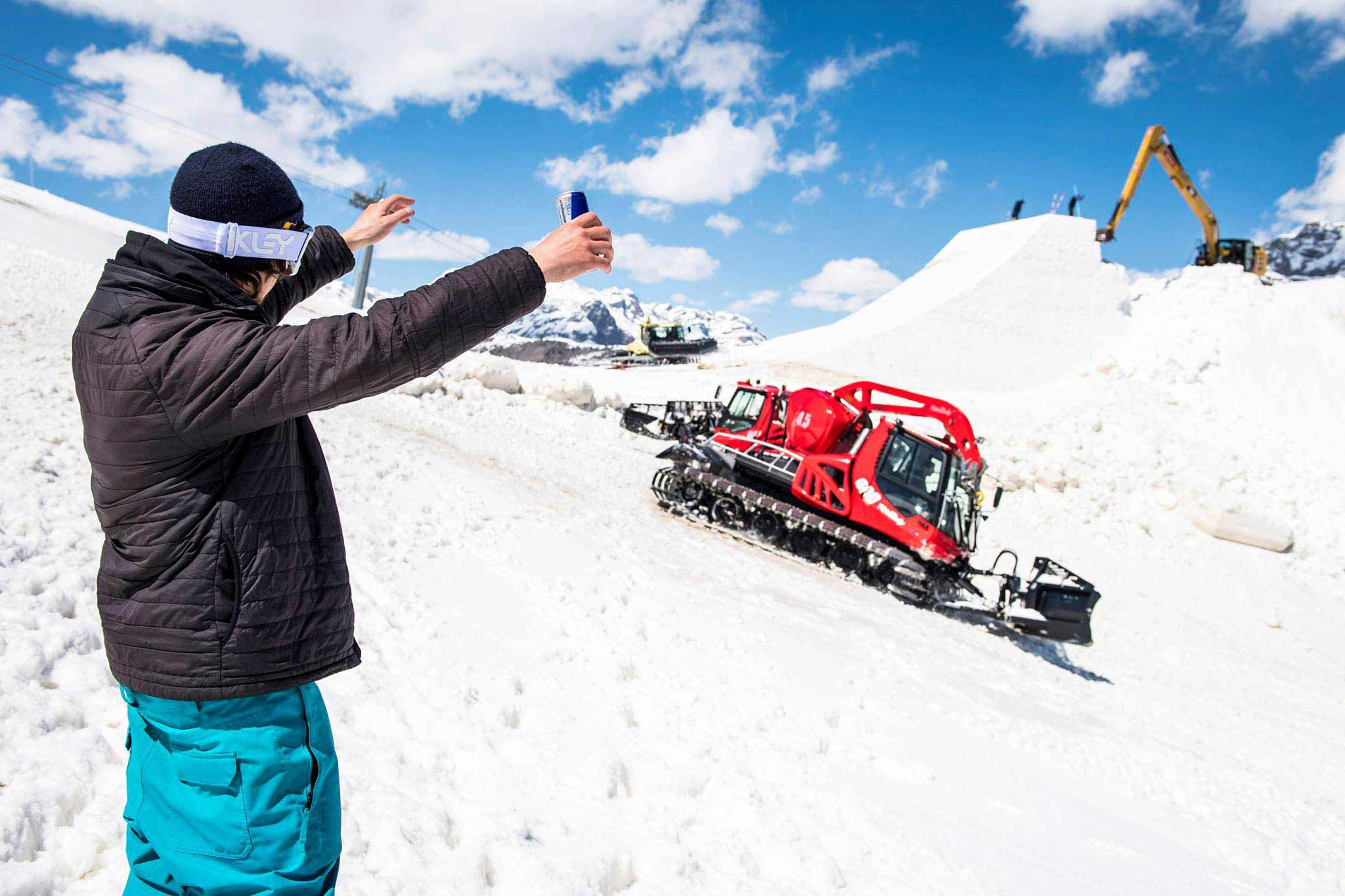 Paddy Graham hat schon Bock auf den Monster-Booter in Livigno - Foto: Pally Learmond