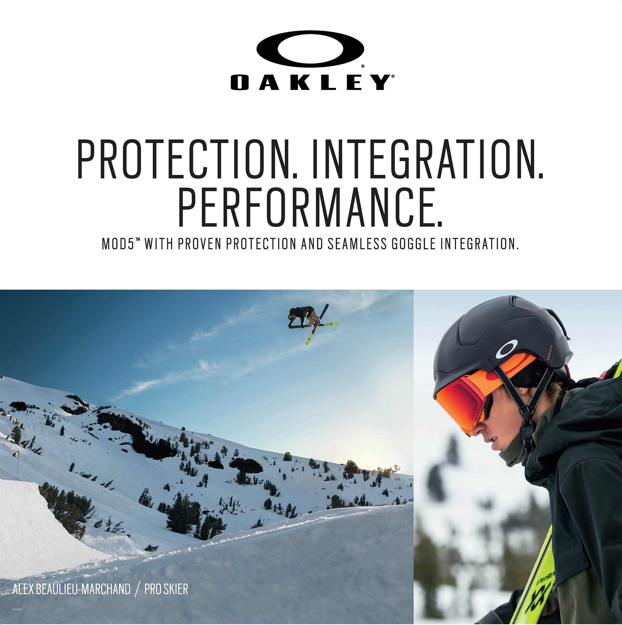 Neben der Outerwear hat Oakley zudem mit dem Mod 5 einen neuen Helm im Sortiment.
