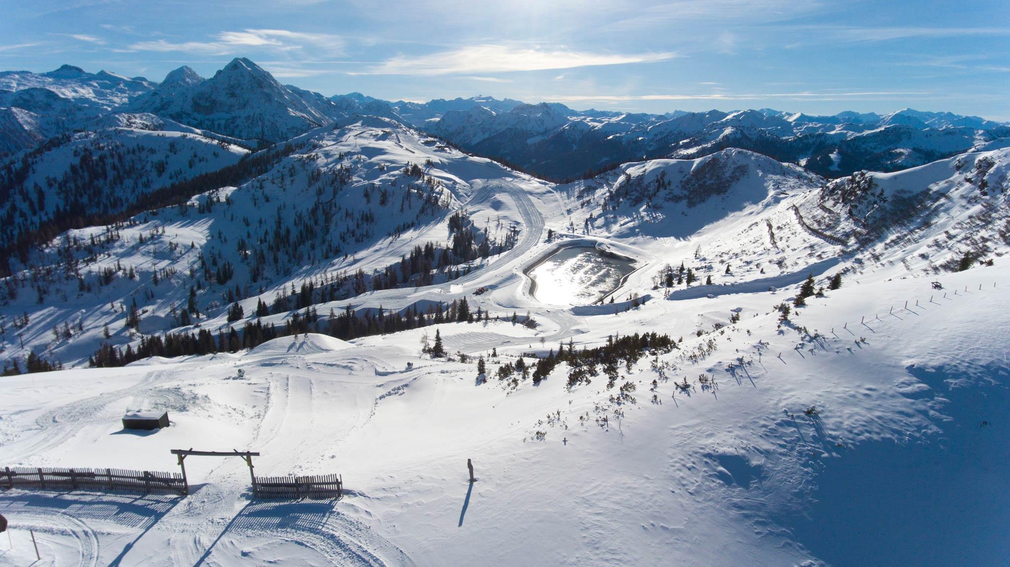 Am 2. Dezember öffnet das gesamte Skigebiet Flachauwinkl-Kleinarl mit sechs Bahnen.